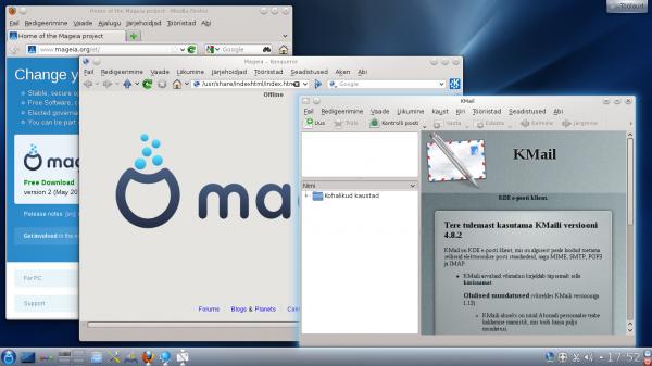 Firefox, Konqueror ja KMail
