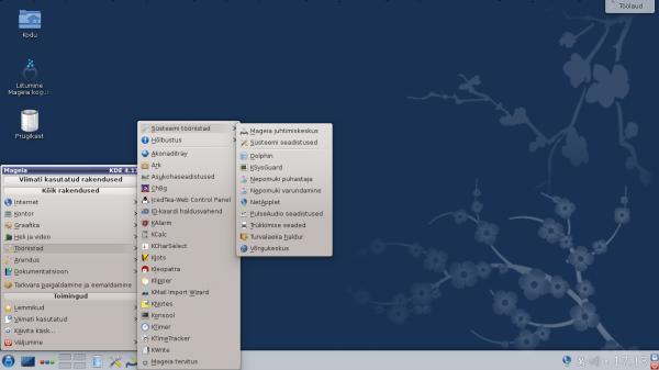 KDE menüü